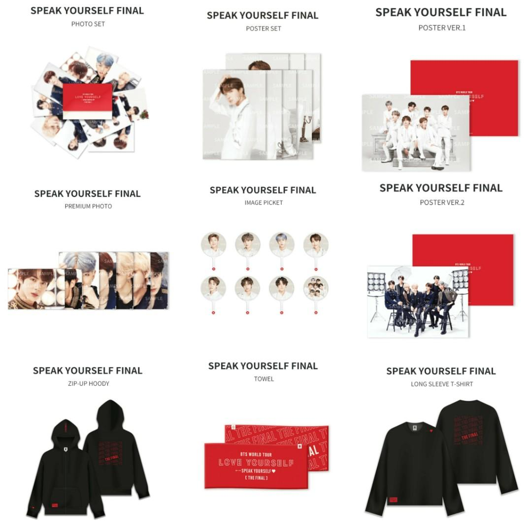 BTS Weply Official Posters The Final Merch