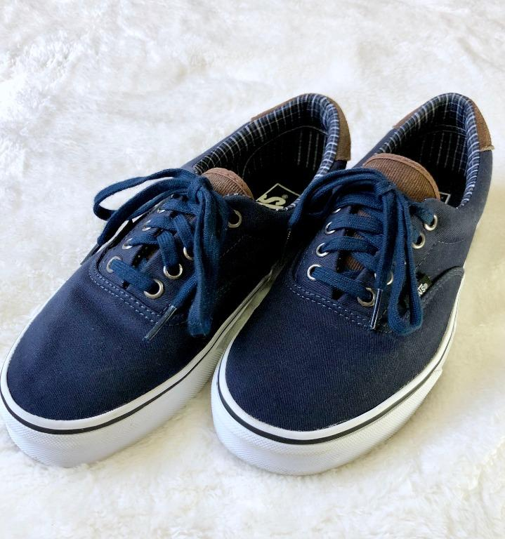 Pre-loved Vans Unisex Navy/Brown Shoe US Men 7.0/US Women 8.5