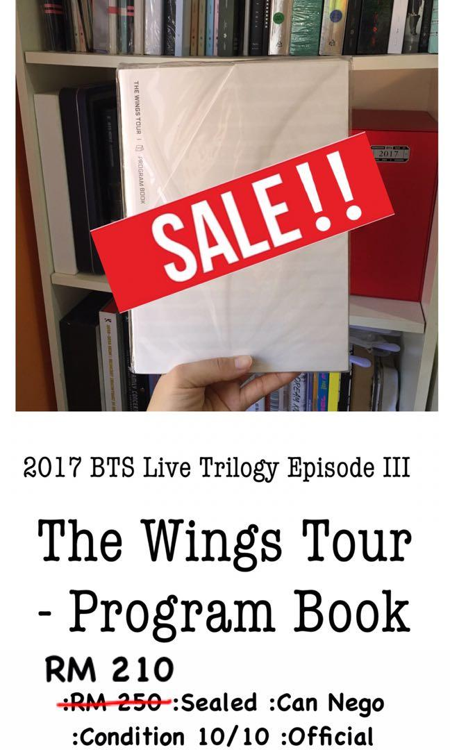 {Rare} 2017 BTS Live Trilogy Episode III the Wings Tour - Program Book