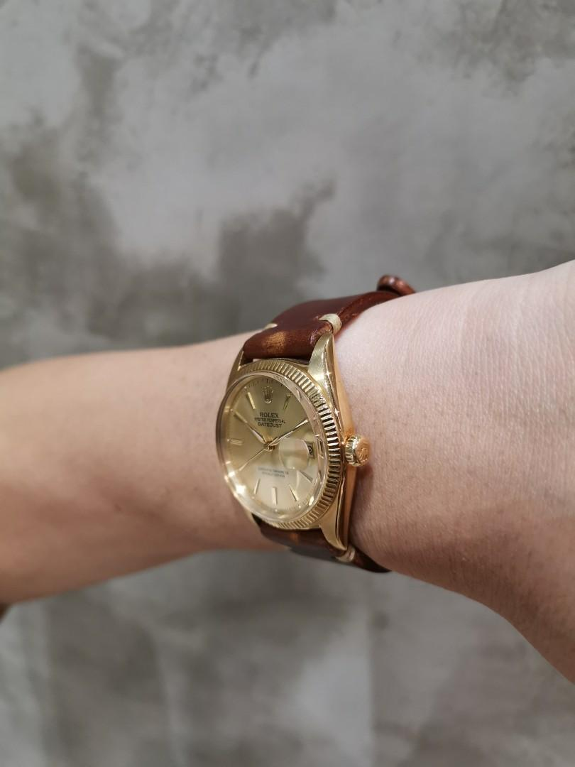 Rolex 1601 Datejust 18K Solid Gold