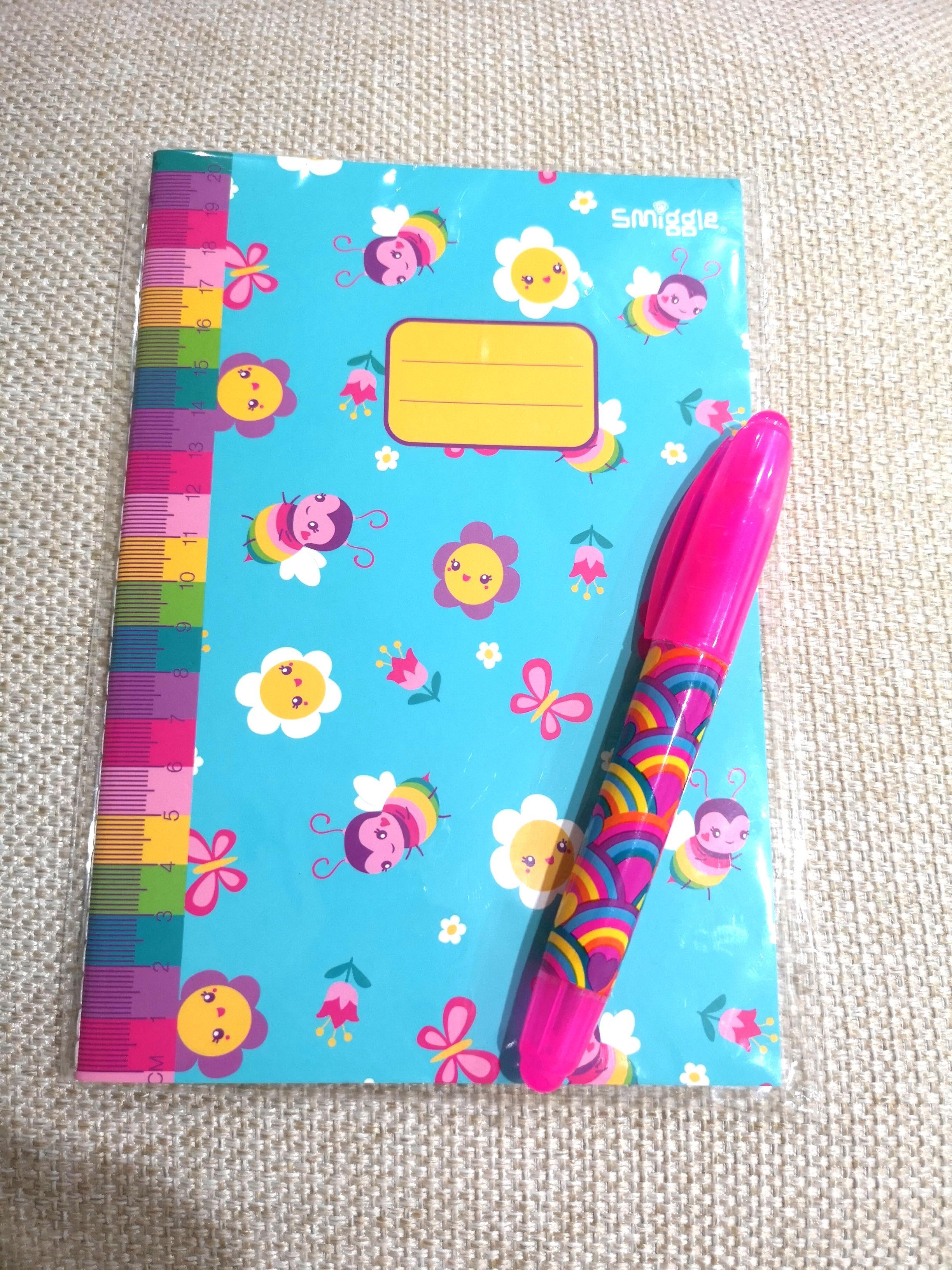 🌈SMIGGLE Note book + Highlighter Pen