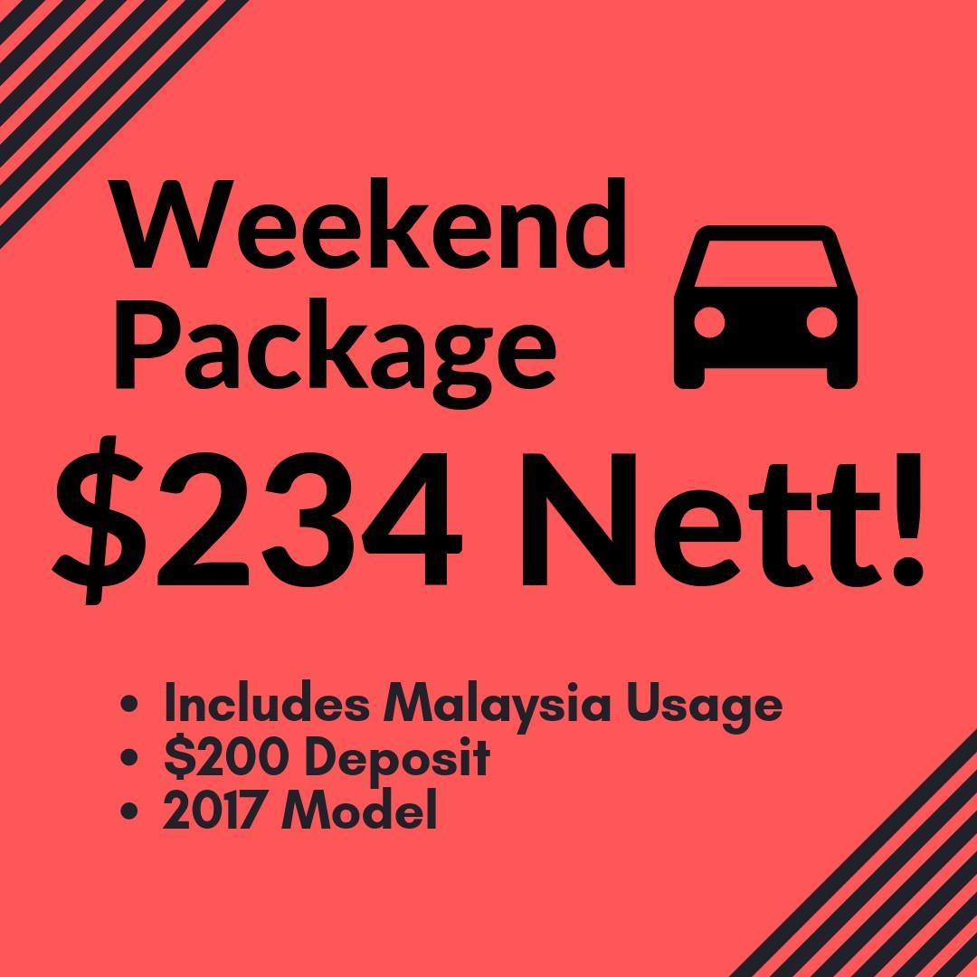 SPECIAL WEEKEND RENTAL CAR PACKAGE ONLY FOR THIS WEEKEND