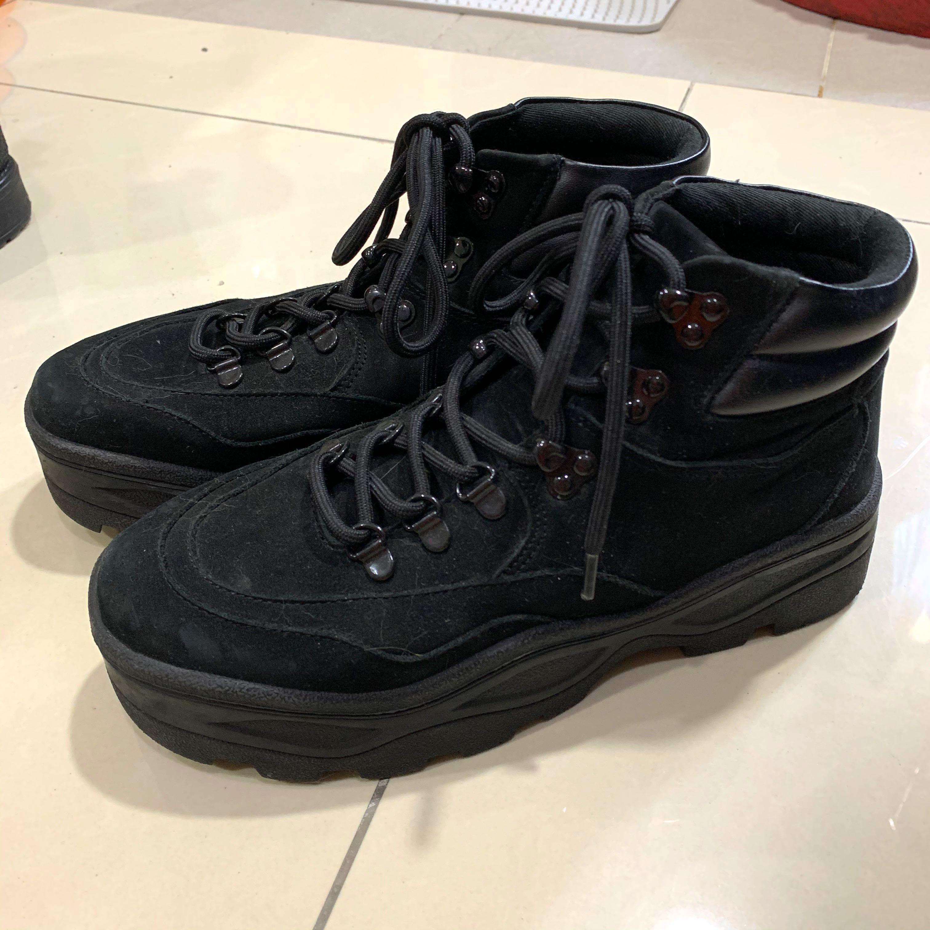 Steve Madden 黑短厚底軍靴 老爹鞋 sly vii&co