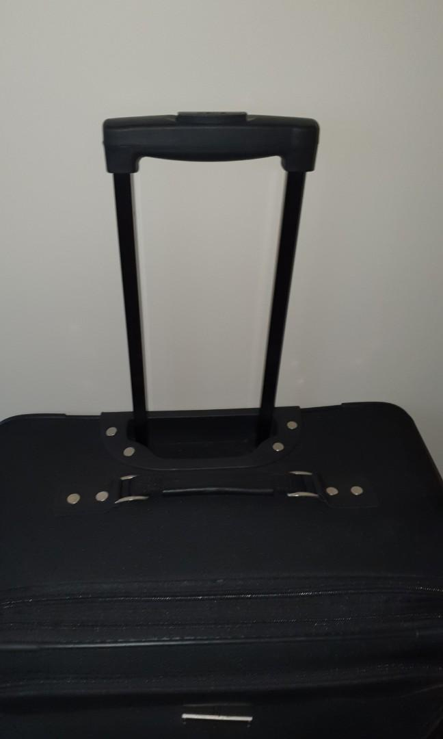 Suitcase with matching duffle bag and toiletries bag