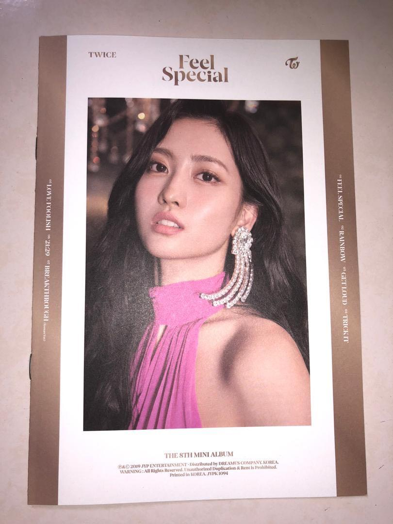 TWICE FEEL SPECIAL LYRICS BOOK