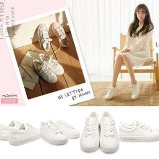 韓國 小白鞋24號