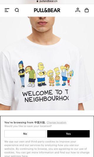 Pull&bear 辛普森家庭T恤