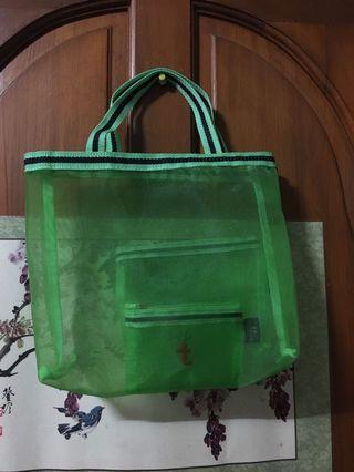 美體小舖 網袋 (1個手提袋+2個拉鍊包)