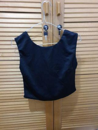 Crop Top with Back Bow