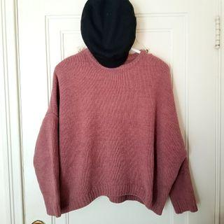 Oak and Fort pink knit sweater (xs/s)