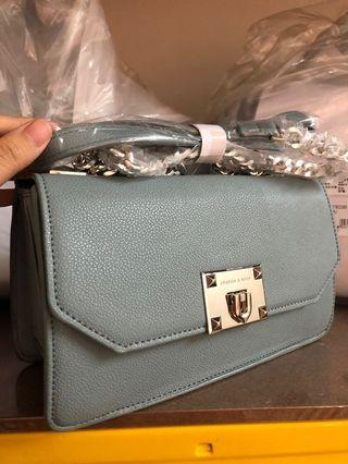 READYSTOCK MALAYSIA Charles & Keith light Blue achain Handbag