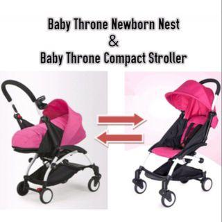 baby throne stroller with nest