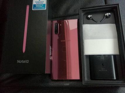 Samsung Note 10 New 256GB Aura Pink