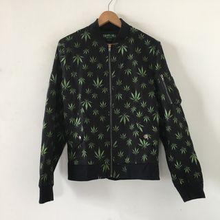 美國品牌 |Tripp NYC | 全新 原價兩千多 街頭 大麻葉 黑色 厚實 飛行員 外套 飛行外套 棒球外套