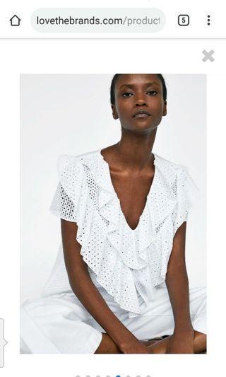 Bnwt Double ruffles blouse