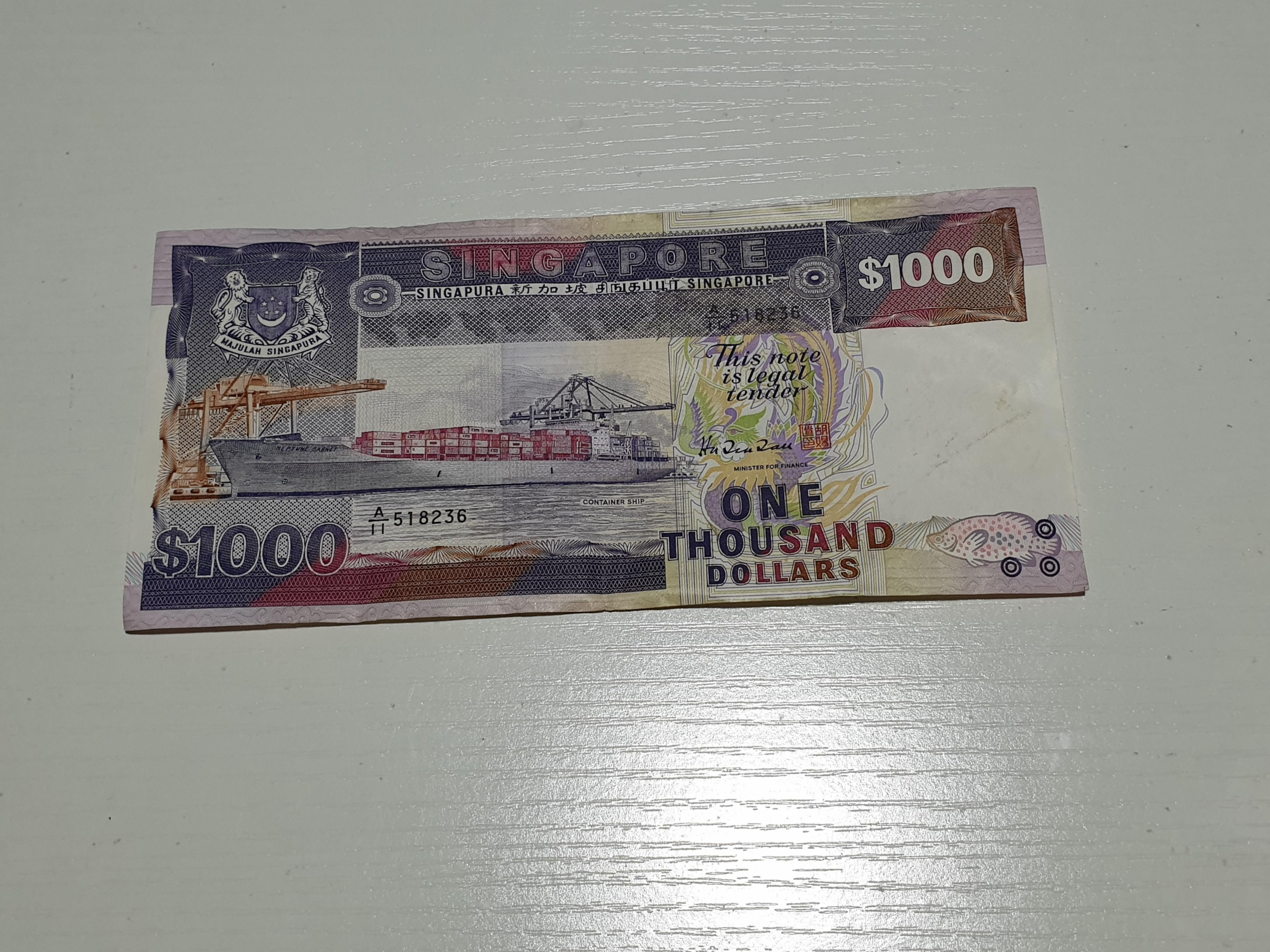 $1000 Ship Series Old Notes