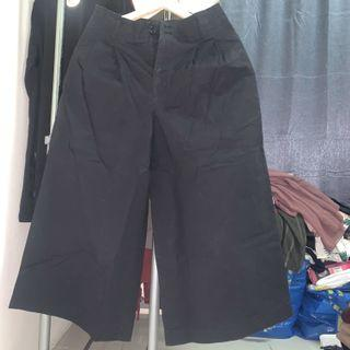 Uniqlo Cotton Wide Leg Pants