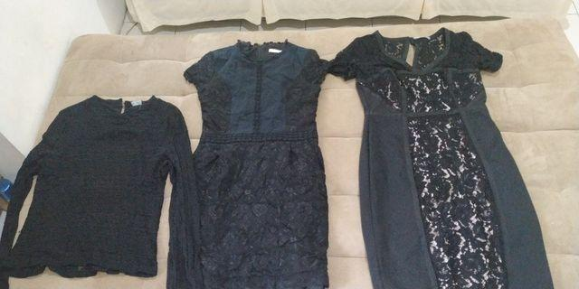3 tops (1 blouse, 2 dress)
