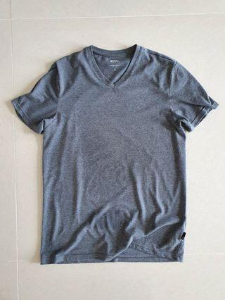 Burton Menswear London V neck Tee grey size M