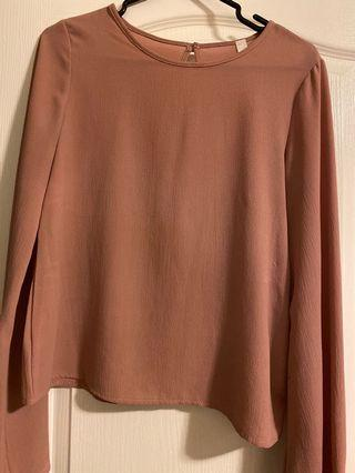 M Boutique Bell Sleeve Top