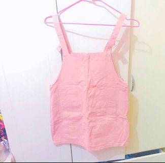 質感好 可愛粉色吊帶裙