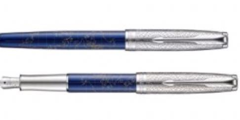 PARKER SONNET 派克 商籟系列藍桿白夾鋼筆F 限量筆款