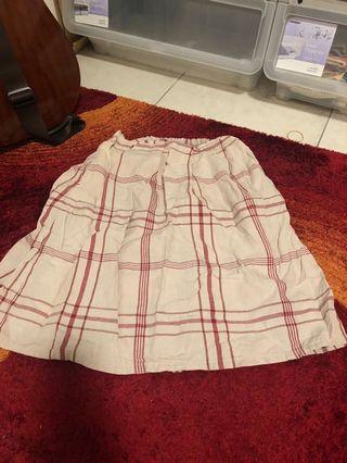 棉麻材質 短裙 紅條紋/藍條紋 及 長上衣 藍色碎花