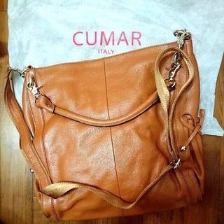 全新專櫃正貨 CUMAR 小牛皮兩用包 肩背包 大容量方包 現貨