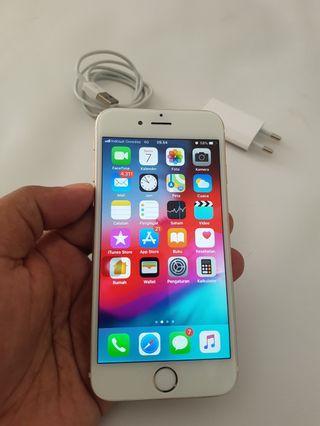 iPhone 6 Gold 16GB Ex Resmi HP Carger aja