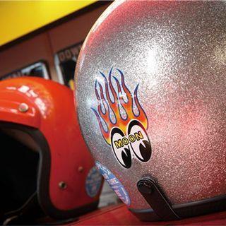 Mooneyes Flame sticker