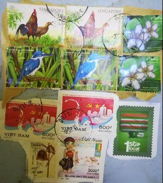 vintage stamps.collectible. sell in set.