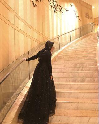 Afiqm SS18 Sparkle Skirt with Train