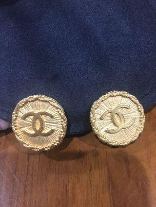 Chanel香奈兒vintage 老香古董耳夾耳環