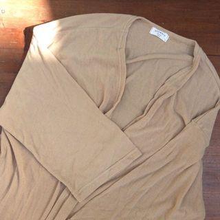 韓國製 韓系 針織外套 針織背心 杏色