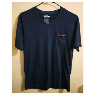 深藍色休閒T-shirt