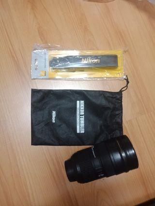 Nikon lens tumbler & strap