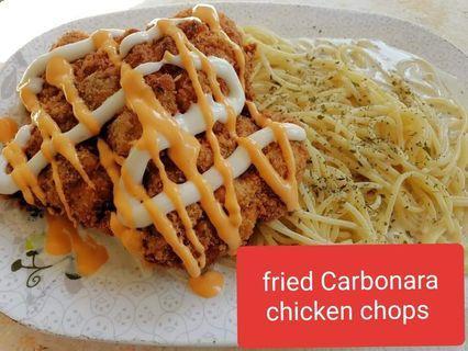 Chicken chops Spaghetti / chicken chops