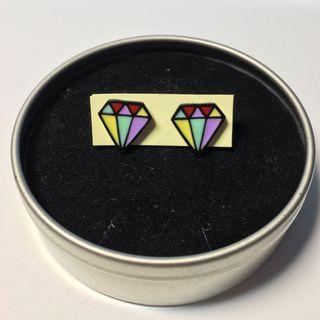 出清彩色鑽石耳環