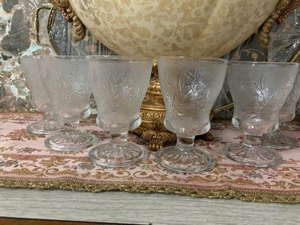 Vintage Footed Glass