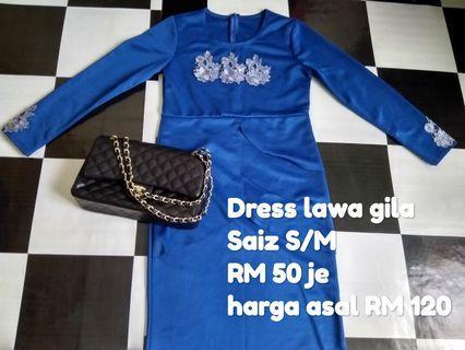 Dress,  baju kurung like new tapi murah