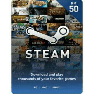 Steam wallet RM50