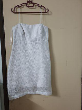 White Slip.Dress.from Eclipse