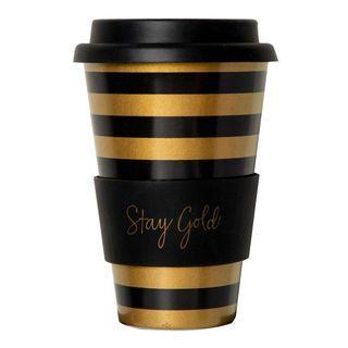 Sephora Gold & Black Stripes Mug