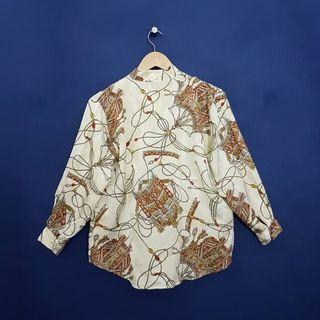 K912 Size LL Atasan Blus VIntage Sateen Premium Silk BeauFort Imoprt