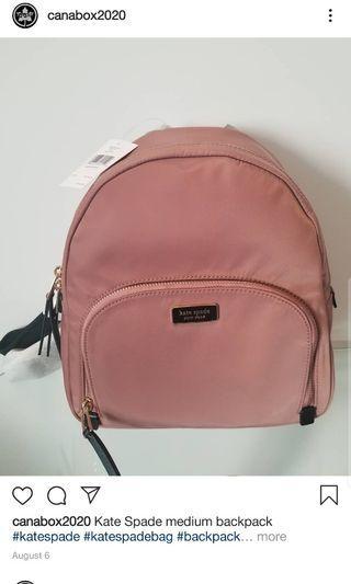 Kate Spade Medium Bag pack Pink