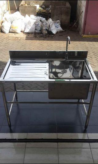 Sink Stainless 1 Lubang uk.P.112 x l.65 x T.80 cm