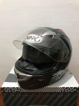 Helm NHK Double Visor Fullface Murah! Ori!