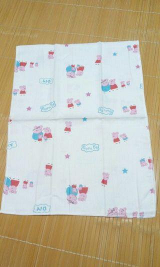 佩佩豬100%純棉紗布童巾