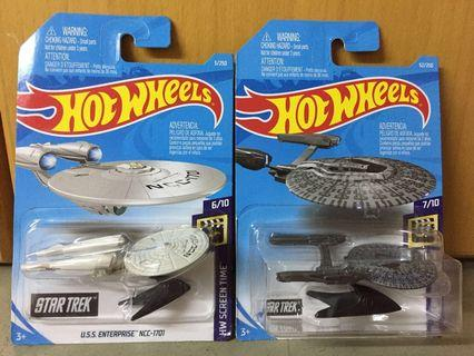 Hotwheels Star Trek Retro Enterprise & Vengeance Pop Culture Starship set