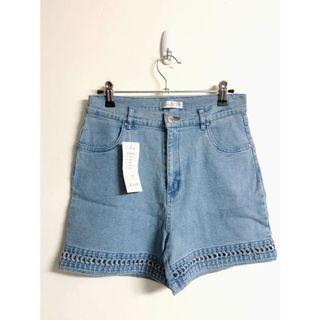 高腰彈性牛仔褲 古著復古風寬褲(M~L🉑️)